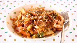 """Napolitan"" Flavored Stir Fried Cabbage"