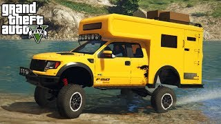 LIFTING A FORD RAPTOR CAMPER! 4x4 Off-Roading, Mudding, Hill Climbing! (GTA 5 PC Mods)
