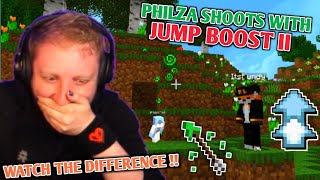 Philza shoots Sneeg and Fundy with Jump Boost!! [Origin SMP]
