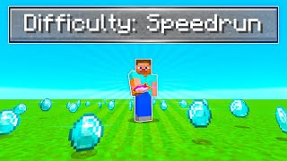 Minecraft Speedrun But The Seed is CRACKED