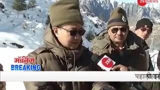 Morning Breaking: Union Minister Kiren Rijiju rides snow scooter in Auli, Uttarakhand
