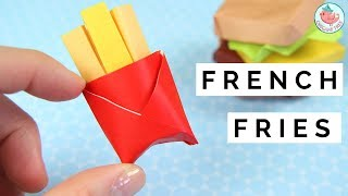 Origami Fries Tutorial - How to Fold a Origami French Fries - Paper Origami Food Tutorial!
