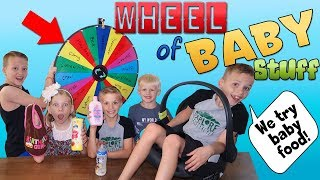 Mystery Wheel Of Baby Brother Stuff - YouTube