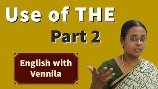Learn English through Tamil - Video 9: 'The'  எங்கே பயன்படுத்த வேண்டும் ? - Part 2