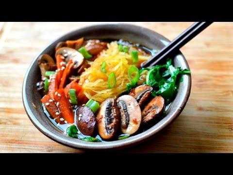 Vegan Ramen Soup (Paleo Spaghetti Squash) Gluten Free