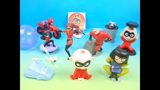 2018 McDONALDS THE INCREDIBLES 2 SET OF 10 HAPPY MEAL KIDS TOYS VIDEO REVIEW