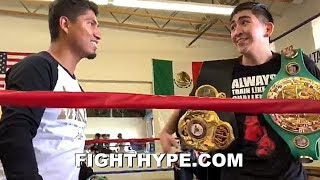 LEO SANTA CRUZ TELLS MIKEY GARCIA HOW MUCH HE'S BETTING ON HIM TO BEAT ERROL SPENCE