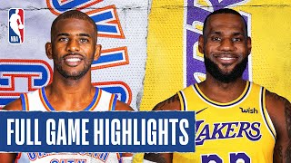 THUNDER at LAKERS | FULL GAME HIGHLIGHTS | August 5, 2020