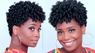 Spiral Curls on Tapered Natural Hair feat @asiamnaturally | MissKenK