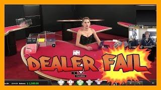 Live Blackjack dealer FAILS