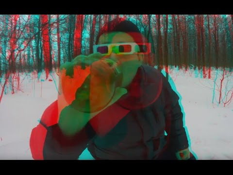 Drunk 3D-MAN in the Woods ! Flatliners in 3D Glasses ! 3D VIDEO