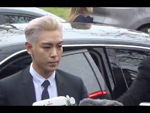 T.O.P. 탑 Big Bang @ Paris 23 january 2016 Fashion Week show Dior