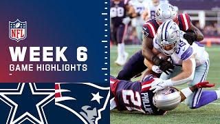 Cowboys vs. Patriots Week 6 Highlights | NFL 2021
