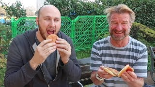 Hot Food Vending Machine Japan Taste Test (Hot Dogs and Burgers)