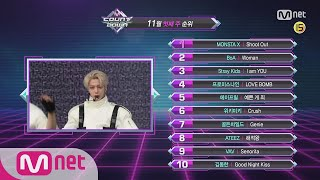 What are the TOP10 Songs in 1st week of November? M COUNTDOWN 181101 EP.594