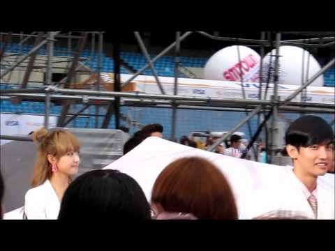 120818 SMT in Seoul Opening f(x) Victoria exo kris tvxq changmin