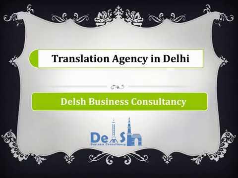 Translation Agency in Delhi