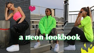 MY STYLE IN A NEON LOOKBOOK : How I wore the Nike Air Force Sage Lace / Lovevie #AD