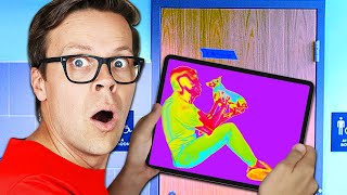 I Used Infrared Cameras to Find Spy in Our House (Hide and Seek Challenge IRL)
