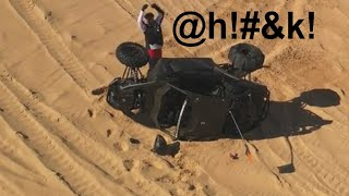 Glamis Presidents Day 2019 (Can-Am Maverick x3 rollover caught on video)