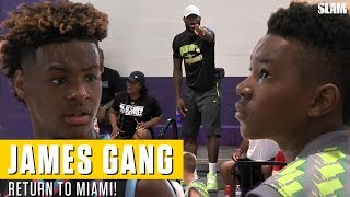 LeBron James returns to Miami! Bronny and Bryce SHOW OUT for Dad at Balling On The Beach