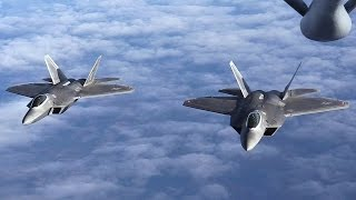 Audio Communications During F-22 Raptors Air Refueling Mission With KC-135