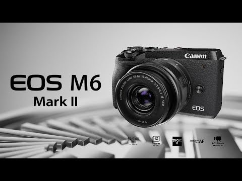 video Canon EOS M6 Mark II Kit 15-45mm + EVF-DC2