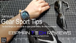 First things you should do! Samsung Gear Sport Tips