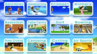 Wii Sports Resort - Everything (All Sports, All Hidden Targets, Basketball, Golf, Bowling, Archery)