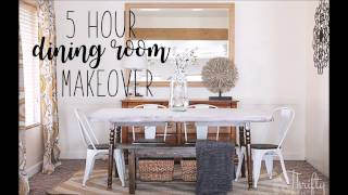 5 Hour Dining Room Makeover with Thrifty And Chic