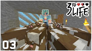 The Great Cow HEIST! - Minecraft 3rd Life SMP - Ep.3