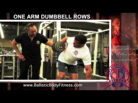 One Arm Dumbbell Rows for back - BBF 90 Day Fitness Challenge Instruction Video #39