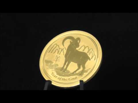 Australian 1 Ounce 2015 Gold Lunar Goat Coin 999.9