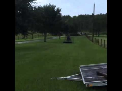 Airboat movin on Dry Ground!