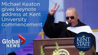 Michael Keaton admits 'I'm Batman' during Kent State University commencement speech