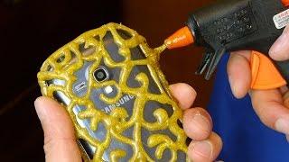 DIY PHONE CASE  Life Hacks - Hot Glue Craft