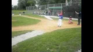 9 year old kid hits inside the park grand slam