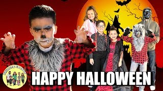 HAPPY HALLOWEEN | TRICK OR TREATING with FAMILY FRIENDS | KIDS SHOW & TRADE TRICK OR TREAT CANDY