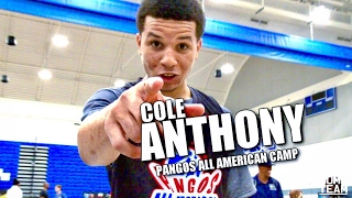 Cole Anthony #1 Ranked Point Guard In Class of 2019! MOP of Pangos All American Camp