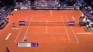Agnieszka Radwanska (POL) vs Maria Sharapova (RUS) 25 April 2014 - Porsche Tennis Grand Prix