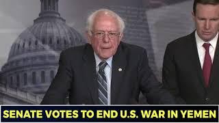 Bernie Sanders: Bipartisan Senate Vote Against Yemen War Is 'Historic'