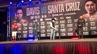 Gervonta Davis vs Leo Santa Cruz undercard faceoff