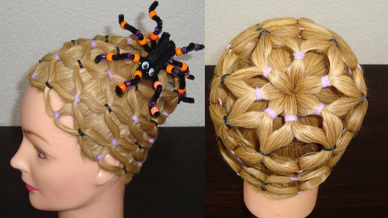 Halloween Hair Styles: *HALLOWEEN* SPIDERWEB HAIRSTYLE