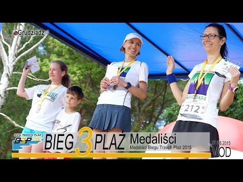 Medaliści Biegu Trzech Plaż 2015