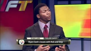 NFL: Ryan Clark's issues with Rob And Skip