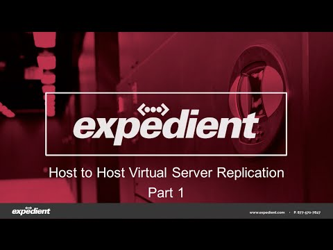 Expedient Host to Host Virtual Replication Overview