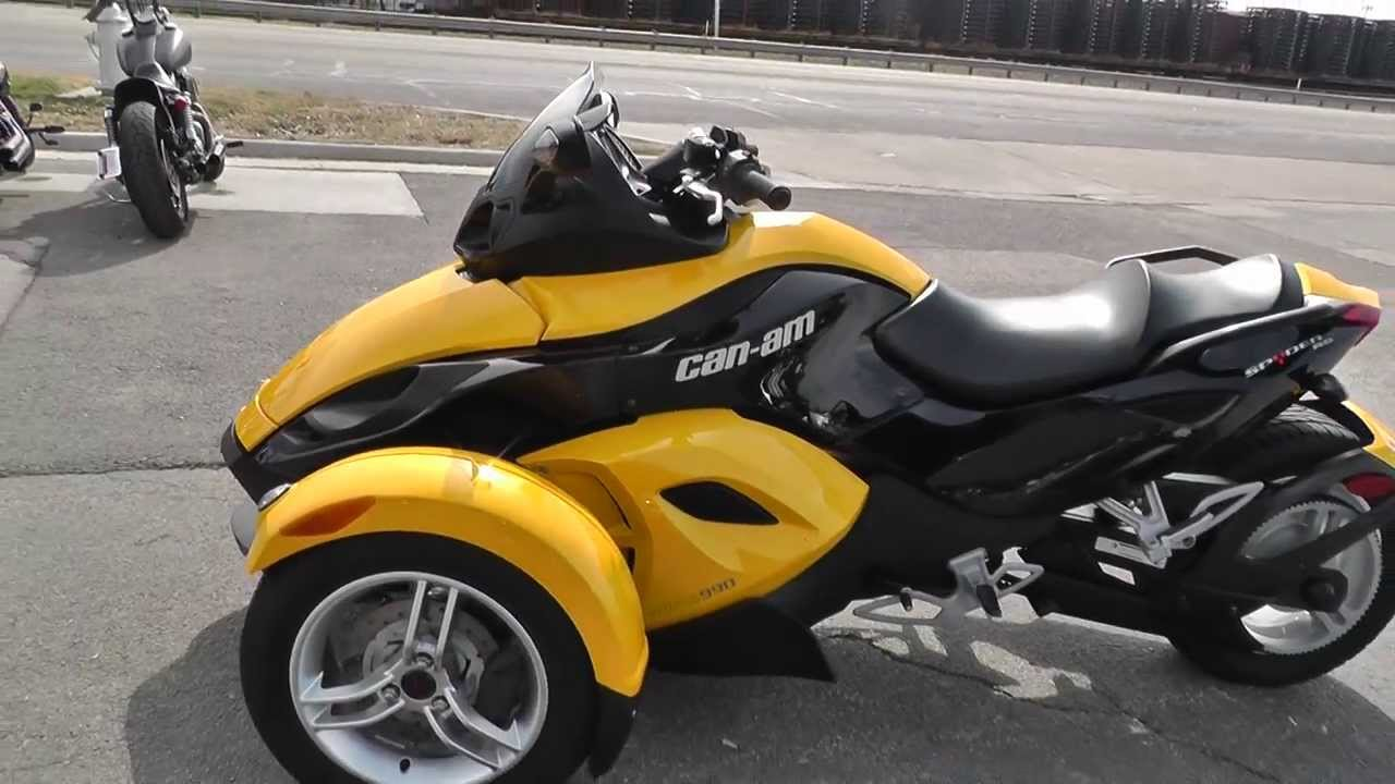 000161 Can Am Spyder Used Motorcycle For Sale Youtube