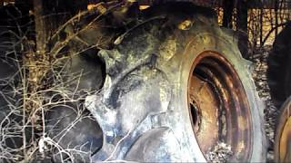 Rice Tires for the JD 4400 Combine