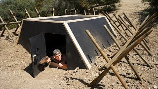 We Built an Underground Zombie Apocalypse Survival BUNKER!!