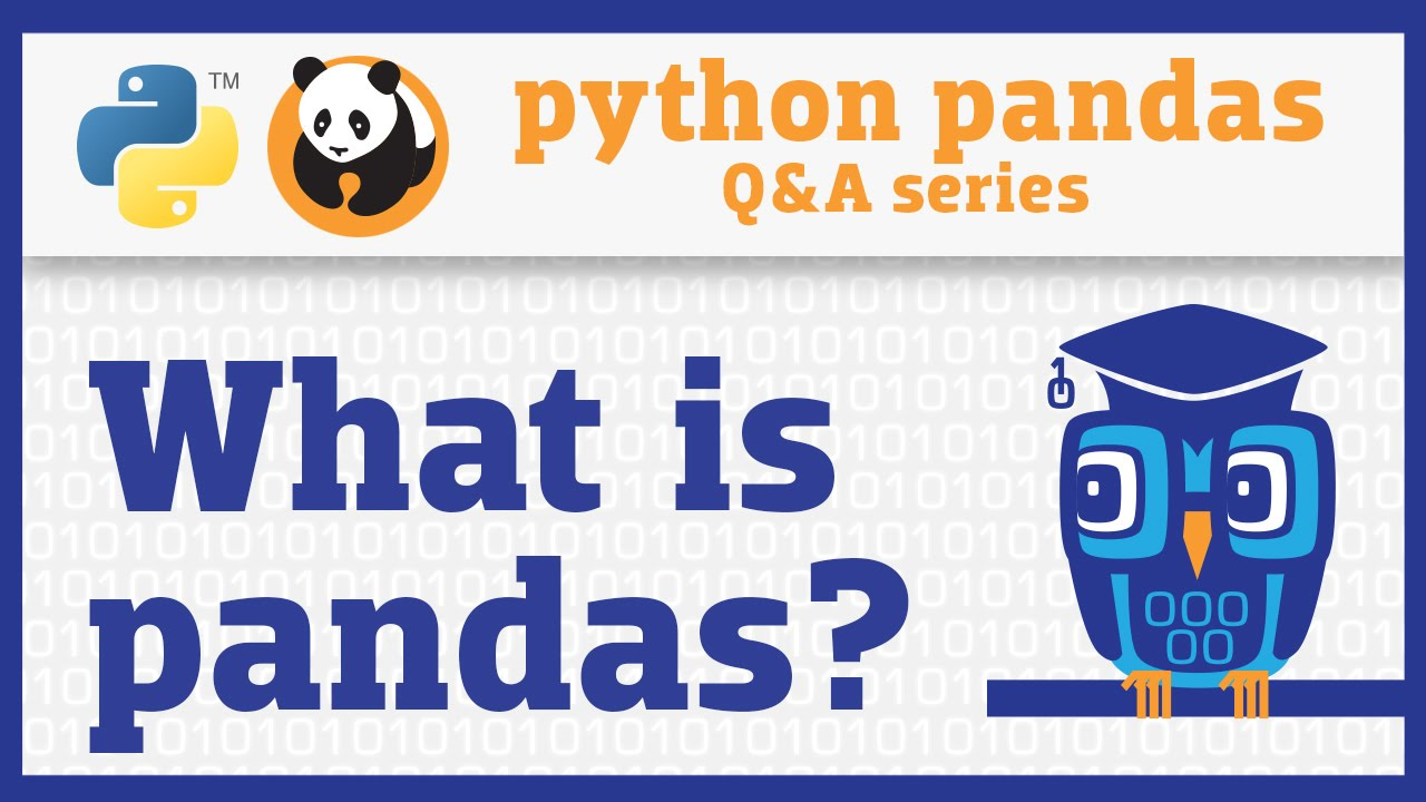Image from What is pandas? (Introduction to the Q&A series)